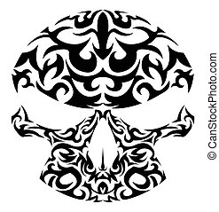Vector Illustration von Stammesschädel.
