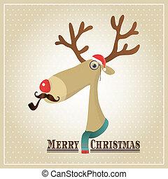 Vector Illustrator Rentiere, frohe Weihnachtskarte.