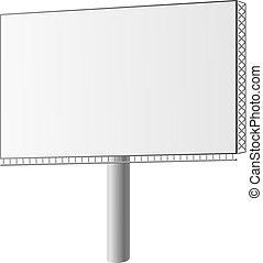 Vector illustriert eine Straßenanzeige
