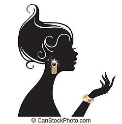 Vector illustriert Schönheitsfrau