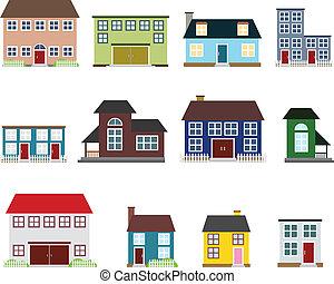 Vector Immobilien-Ikonen