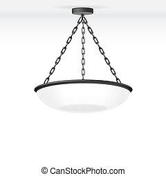 Vector isolierte Lampe.