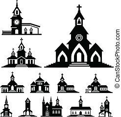 Vector Kirche.