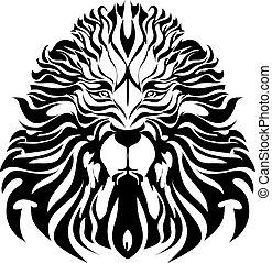 Vector - Löwen-Tattoo-Vektor.