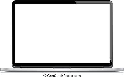 Vector Laptop isoliert auf weißem Bac