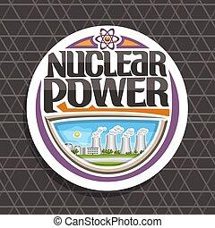 Vector Logo für Atomenergie.