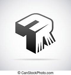 Vector Logo für Buchstabe R.