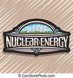 Vector Logo für Kernenergie.