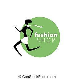 Vector Logo-Mädchen