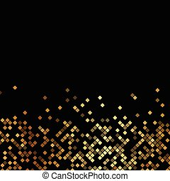 Vector Luxus schwarzer Hintergrund mit goldenen Funkeln.
