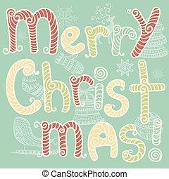 Vector merry Christmas Grußkarte.