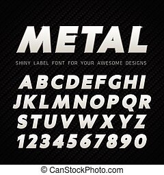 Vector Metallschrift auf Carbon Backgro.