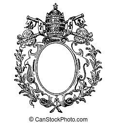 Vector, mittelalterliches Wappen