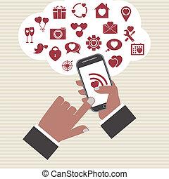 Vector mobile app development concept .
