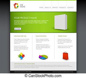 Vector Modern Product Homepage Vorlage
