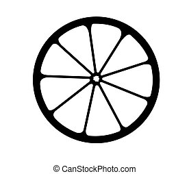 Vector Monochrome illustriert das Zitrus-Logo.