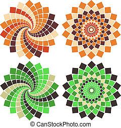 Vector Mosaikblume
