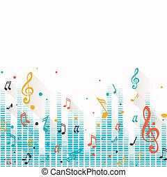 Vector Musik Hintergrund mit Noten.