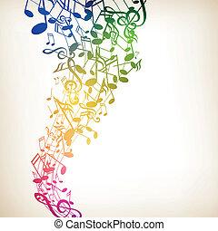 Vector Musik Hintergrund mit Notizen