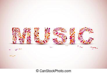 Vector-Musik schreibt ein Thema aus schwarzen Noten