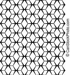 Vector nahtlos abstrakter Hintergrund. Schwarzes Muster auf weiß