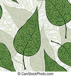 Vector nahtlos alte grüne Blätter