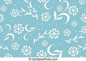 Vector nahtlose blaue Blumenmuster.