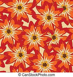 Vector nahtloser Hintergrund mit roten Mohnblumen