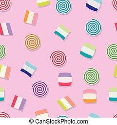 Vector nahtloses Candy Hintergrundmuster