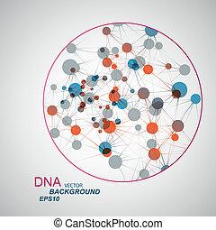 Vector Netzwerkverbindung und DNA eps 10.