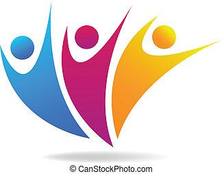 Vector of people social media logo.