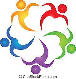 Vector of teamwork helper logo.