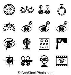 Vector Optometry Icon Set.