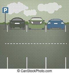Vector Parkplatz