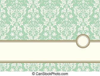Vector pastel-Bannerrahmen und Hintergrund