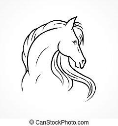 Vector Pferd.