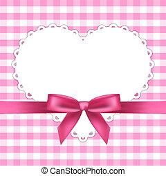 Vector Pink Bild mit Herz