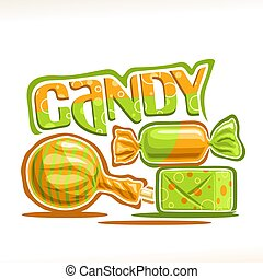 Vector Poster für Süßigkeiten.