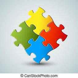 Vector Puzzle / Lösungshintergrund