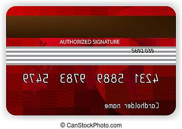 Vector Red Kreditkarten, Rückblick. EPS 8