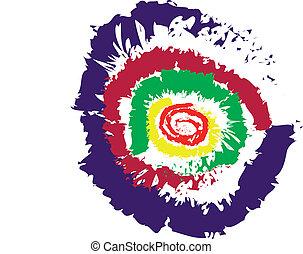 Vector Regenbogenspirale.