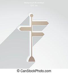 Vector Richtungsschilder Ikone.