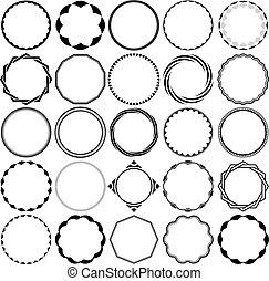 Vector Sammlung von runden dekorativen Grenzrahmen.