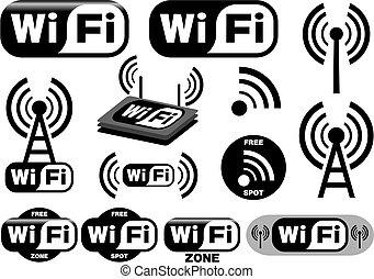 Vector Sammlung von Wi-Fi Symbolen