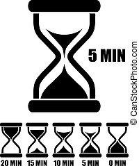 Vector Sandglas Timer