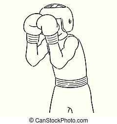 Vector Satz Boxer.