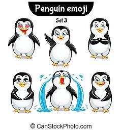 Vector Satz süßer Pinguinfiguren. Set 3