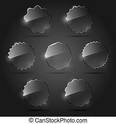 Vector Satz von Glas-Designelementen.