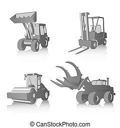 Vector Satz von Industriemaschinen.