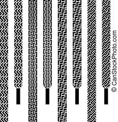 Vector-Schnürsenkel, nahtlose Symbole